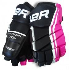 "Bauer Vapor X5.0 Jr Hockey Gloves | Pink 12"""