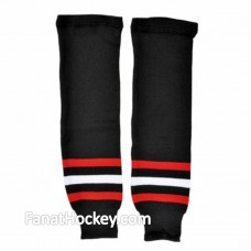 PRO Chicago Black Hawks Knit Int Hockey Socks Home